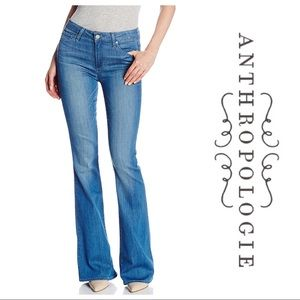 Paige High Waisted Canyon Flare Stretch Jeans 26